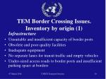tem border crossing issues inventory by origin 1