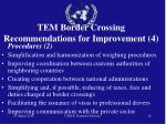 tem border crossing recommendations for improvement 4