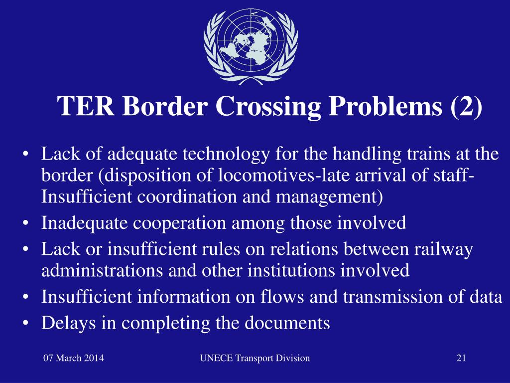 TER Border Crossing Problems (2)
