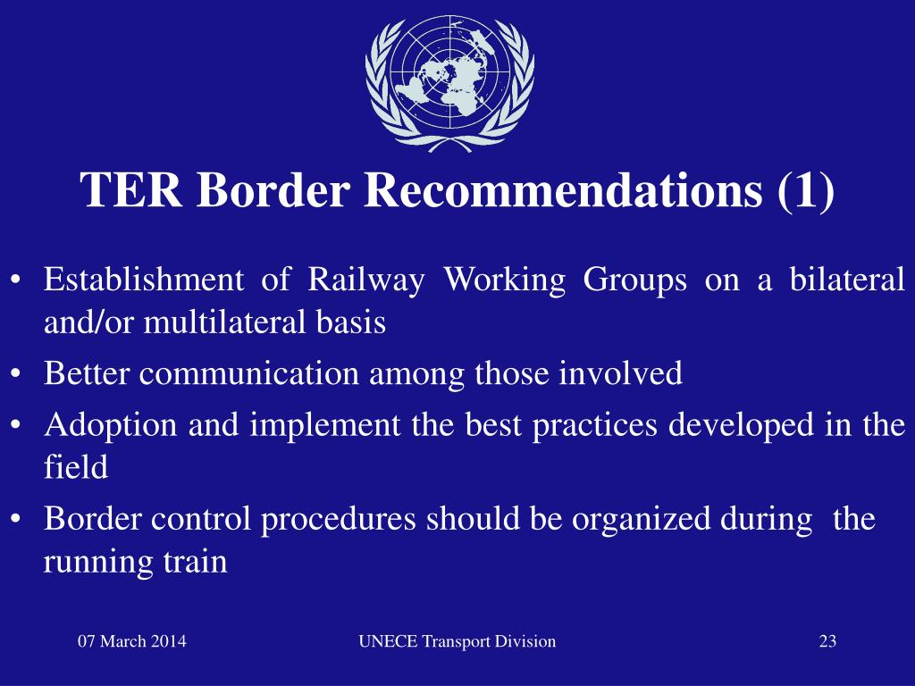 TER Border Recommendations (1)