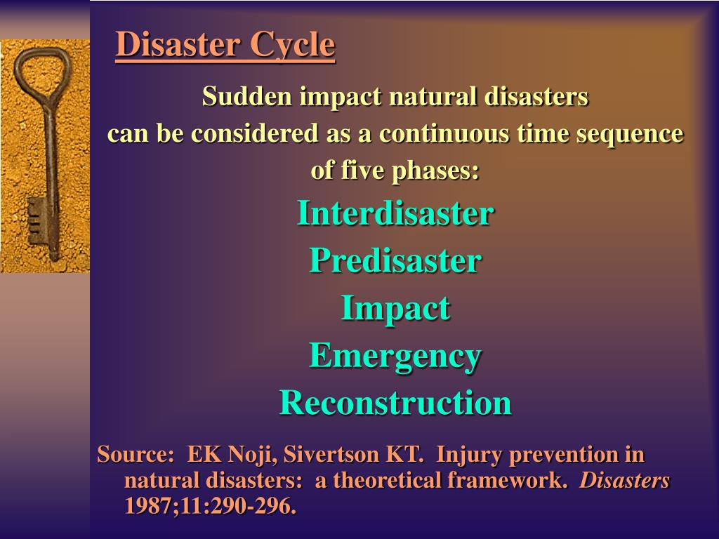 Sudden impact natural disasters