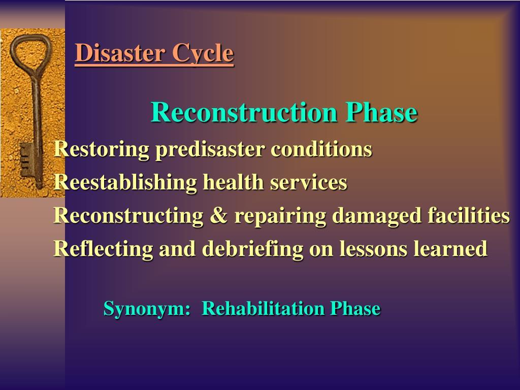 Reconstruction Phase