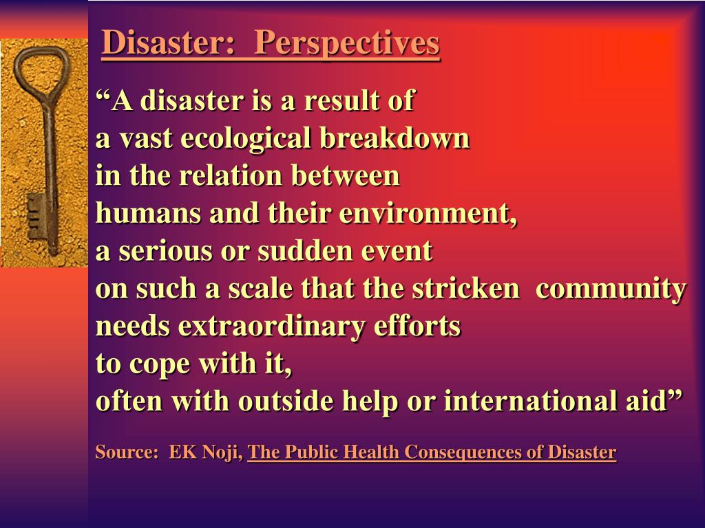 """""""A disaster is a result of"""