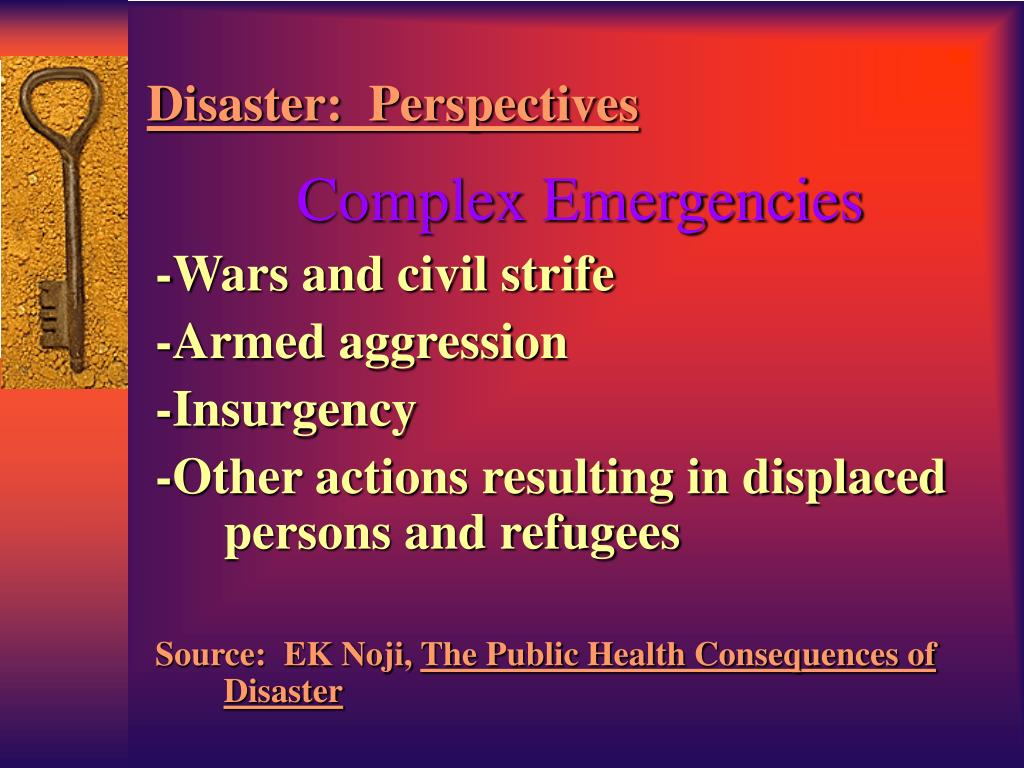 Disaster:  Perspectives
