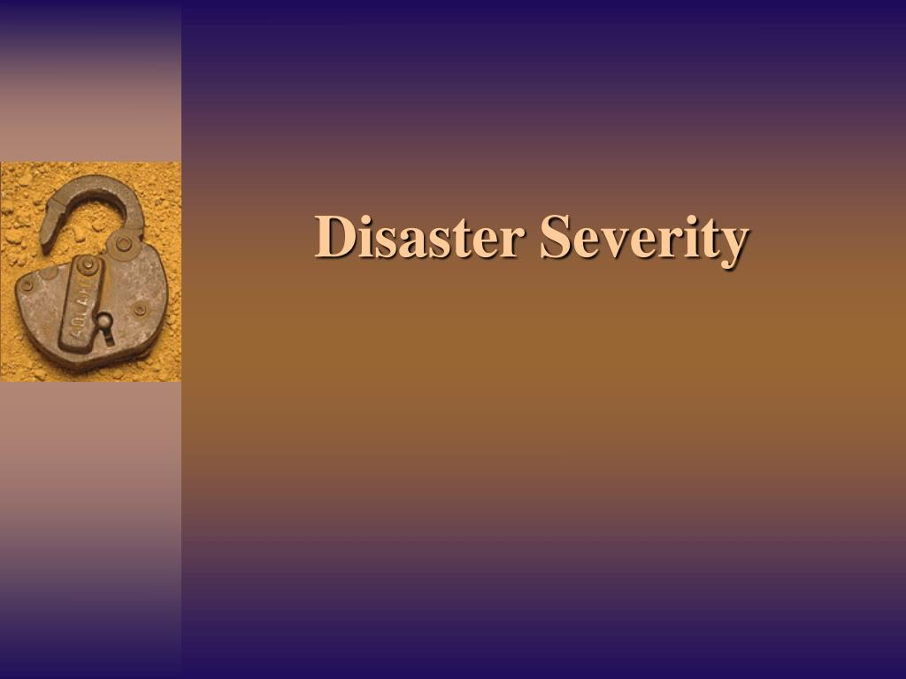 Disaster Severity