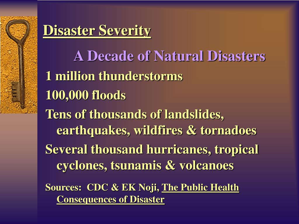A Decade of Natural Disasters