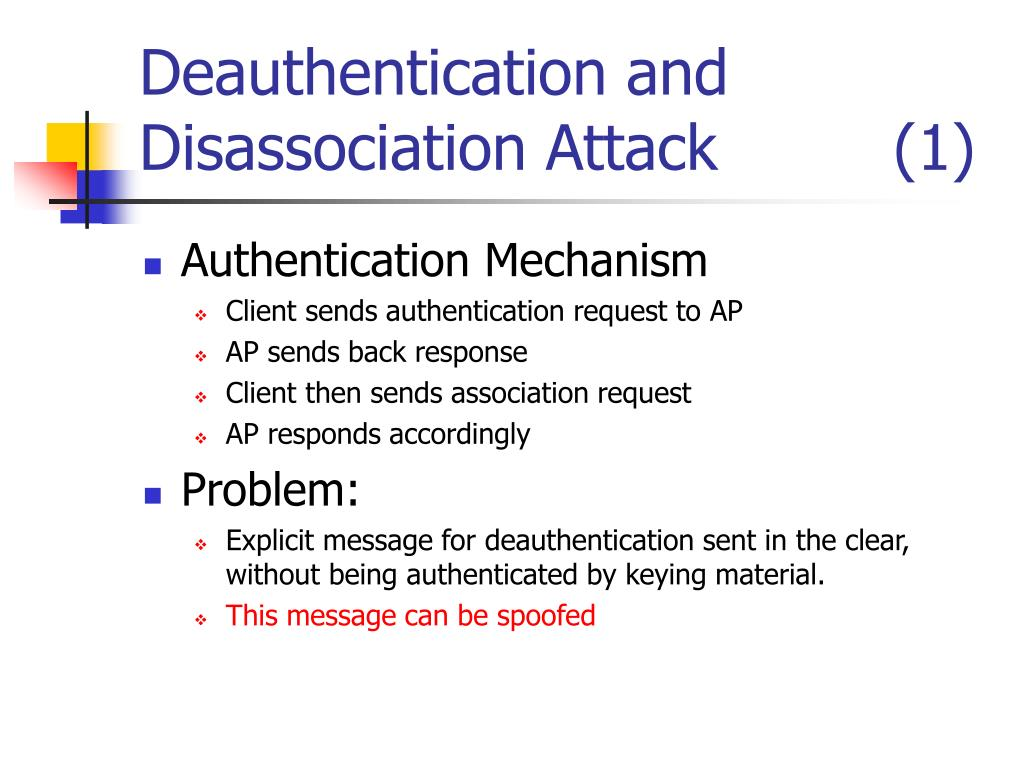Deauthentication and Disassociation Attack         (1)
