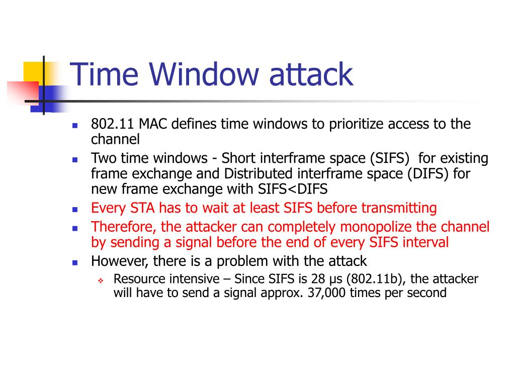 Time Window attack