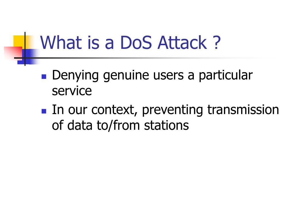 What is a DoS Attack ?