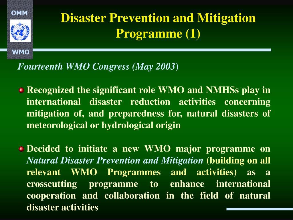 Disaster Prevention and Mitigation Programme (1)