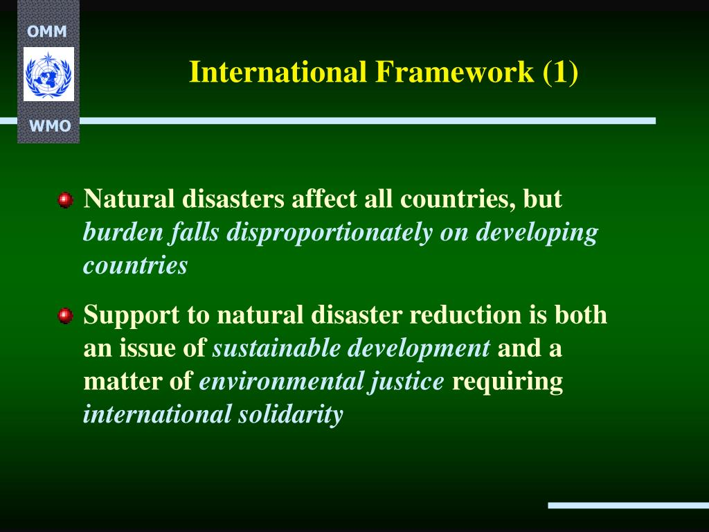 International Framework (1)