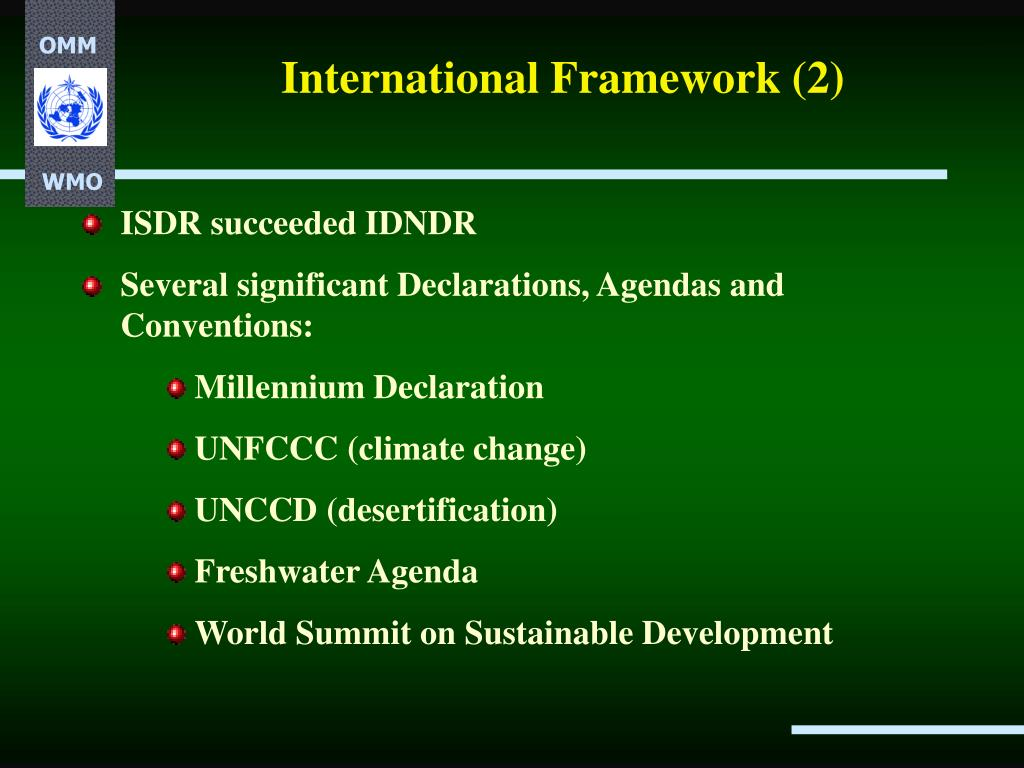 International Framework (2)