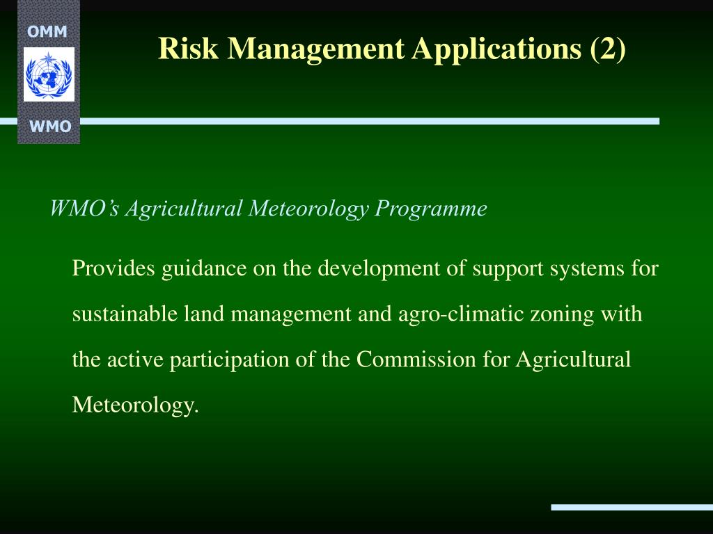 Risk Management Applications (2)