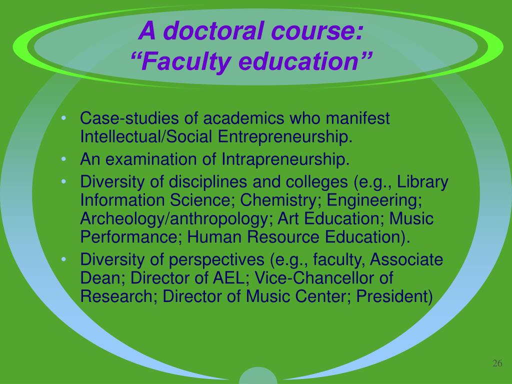 A doctoral course: