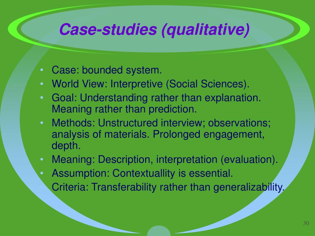 Case-studies (qualitative)
