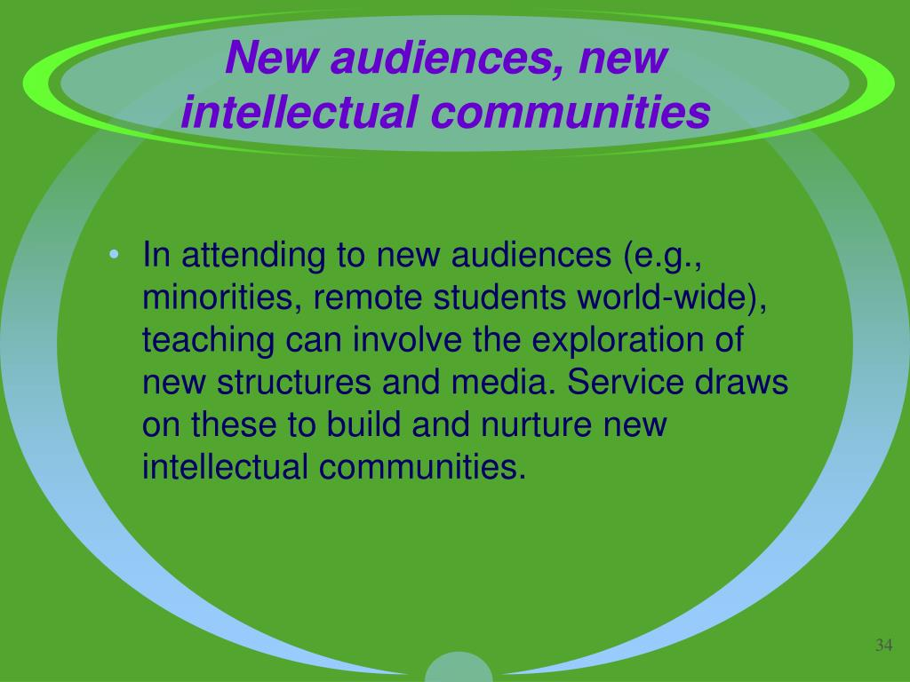 New audiences, new intellectual communities