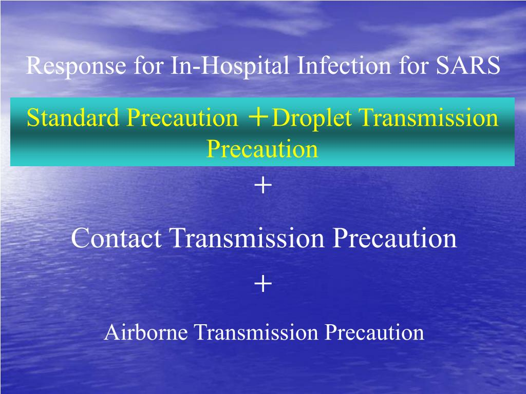 Response for In-Hospital Infection for SARS