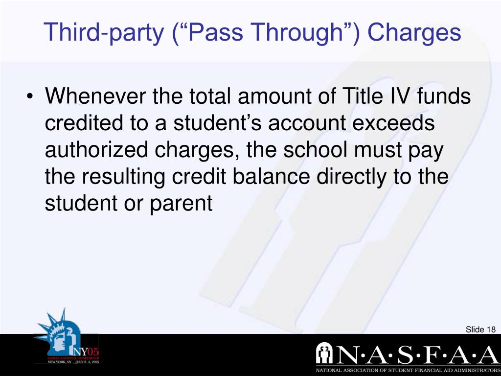 """Third-party (""""Pass Through"""") Charges"""