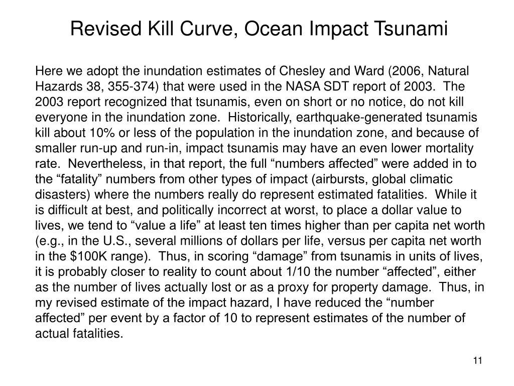 Revised Kill Curve, Ocean Impact Tsunami