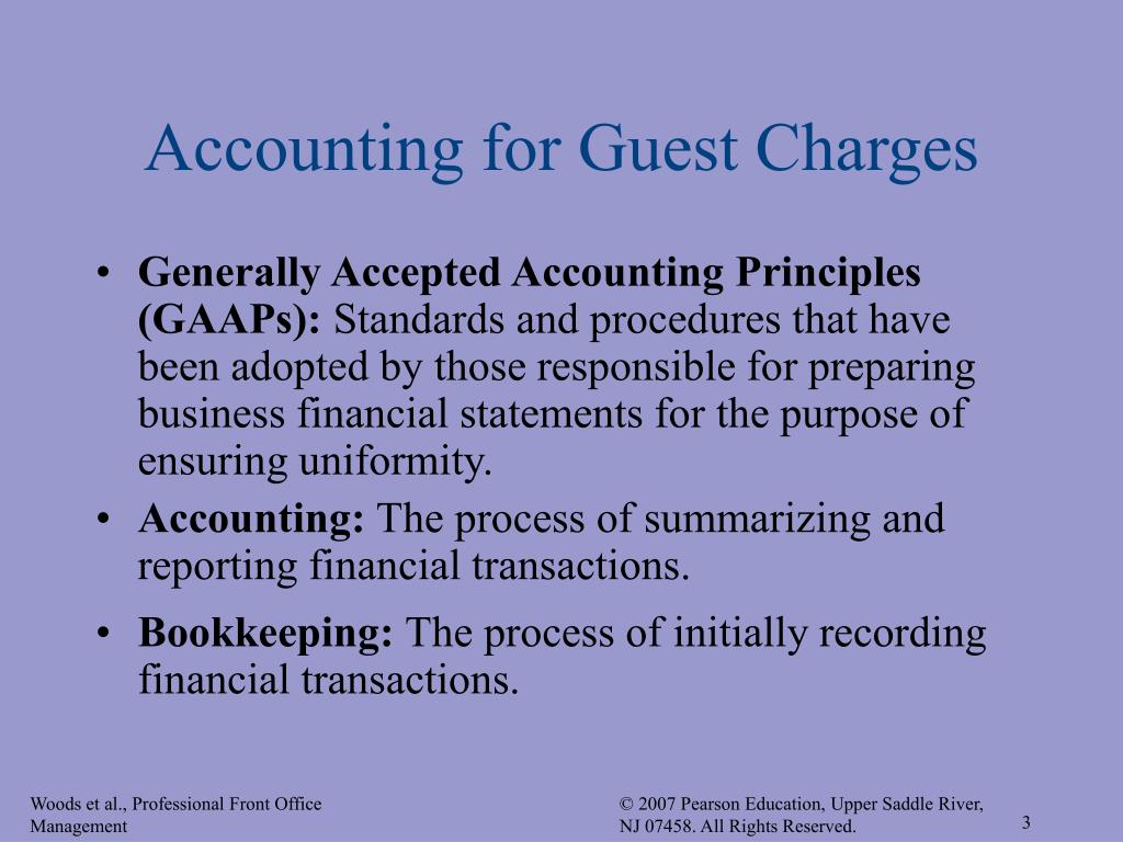 Accounting for Guest Charges