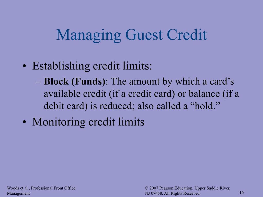 Managing Guest Credit