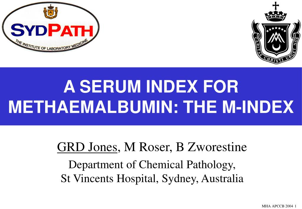 a serum index for methaemalbumin the m index