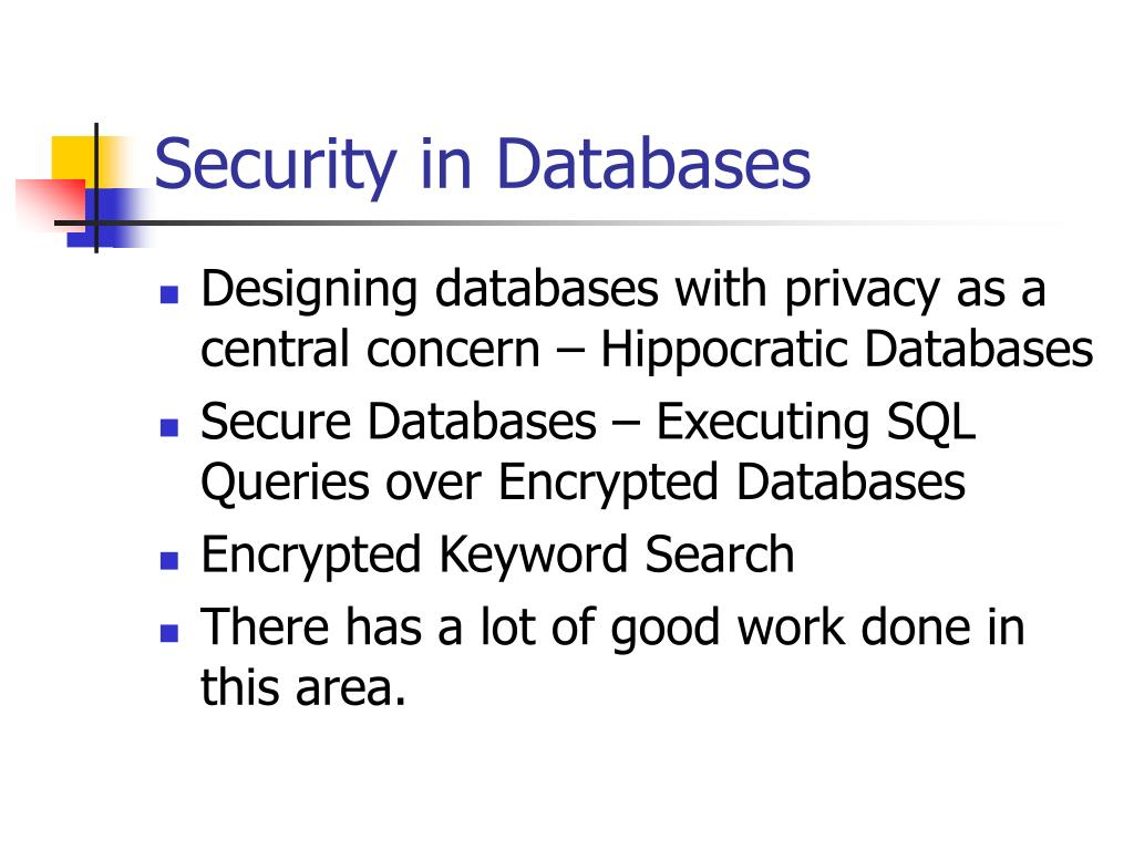 Security in Databases
