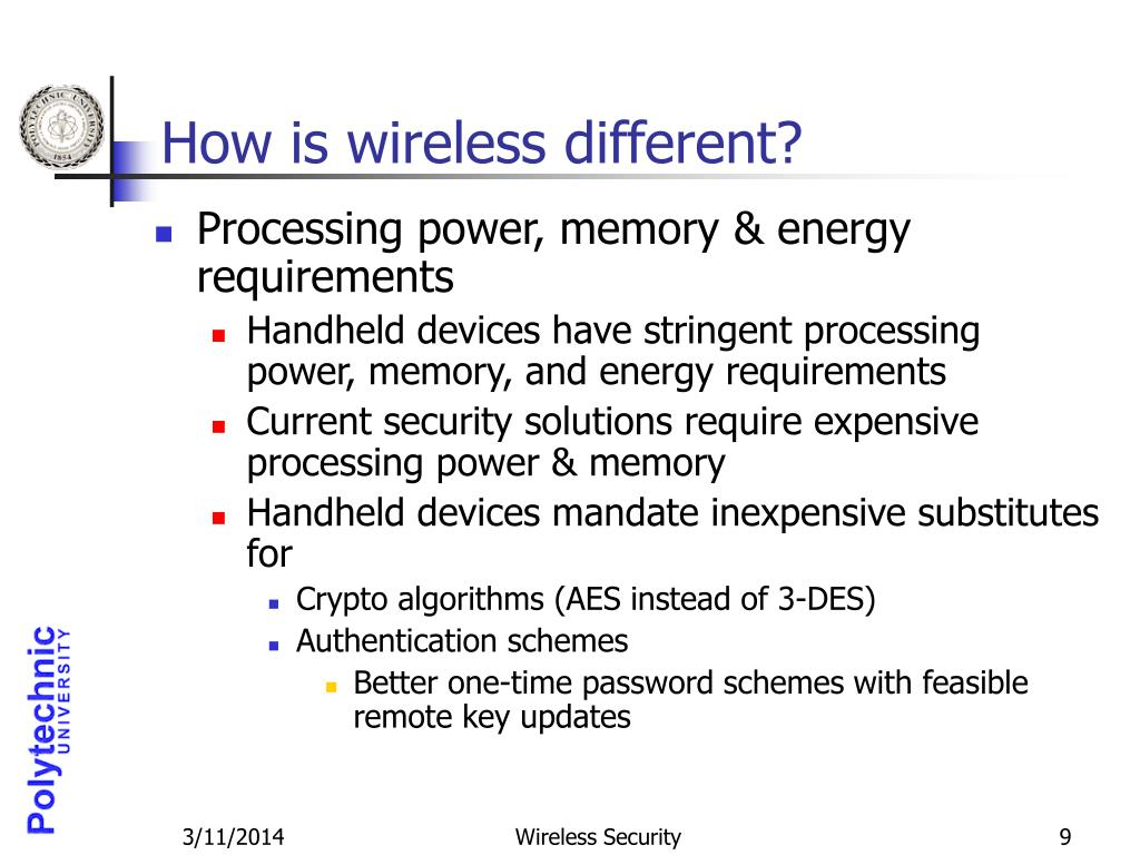 How is wireless different?