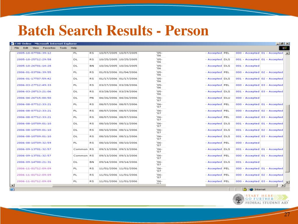 Batch Search Results - Person