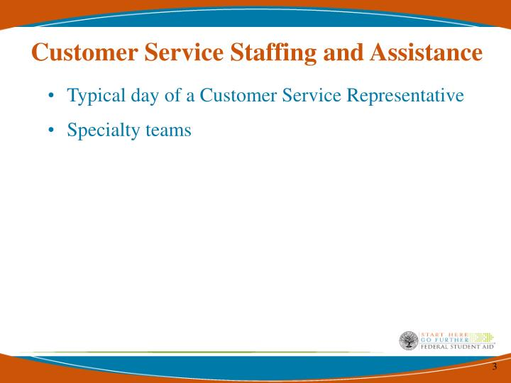 Customer service staffing and assistance