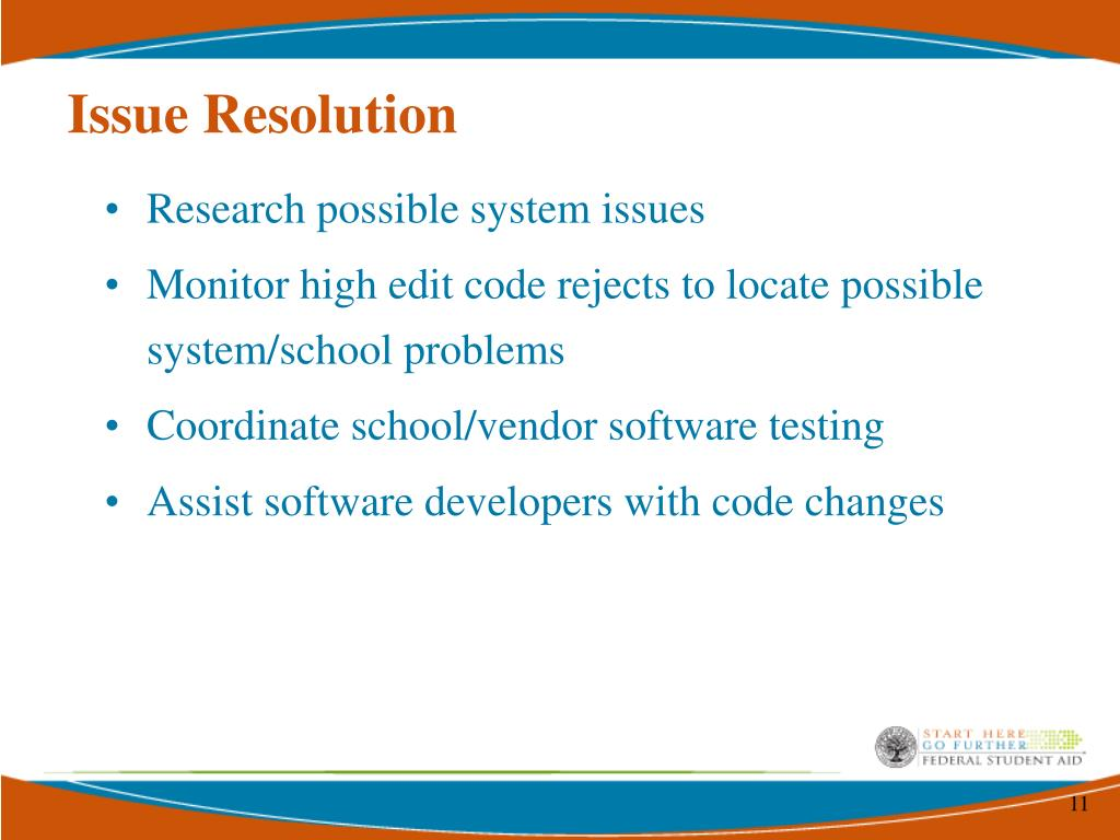 Issue Resolution