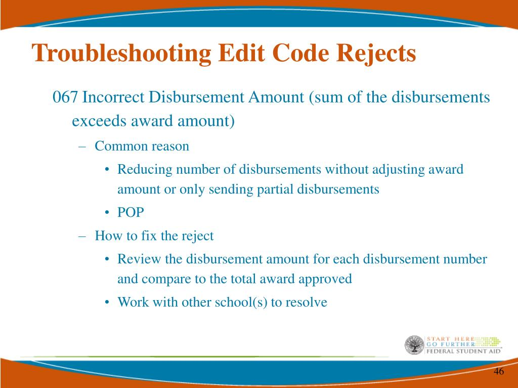 Troubleshooting Edit Code Rejects