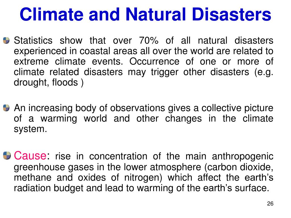 Climate and Natural Disasters