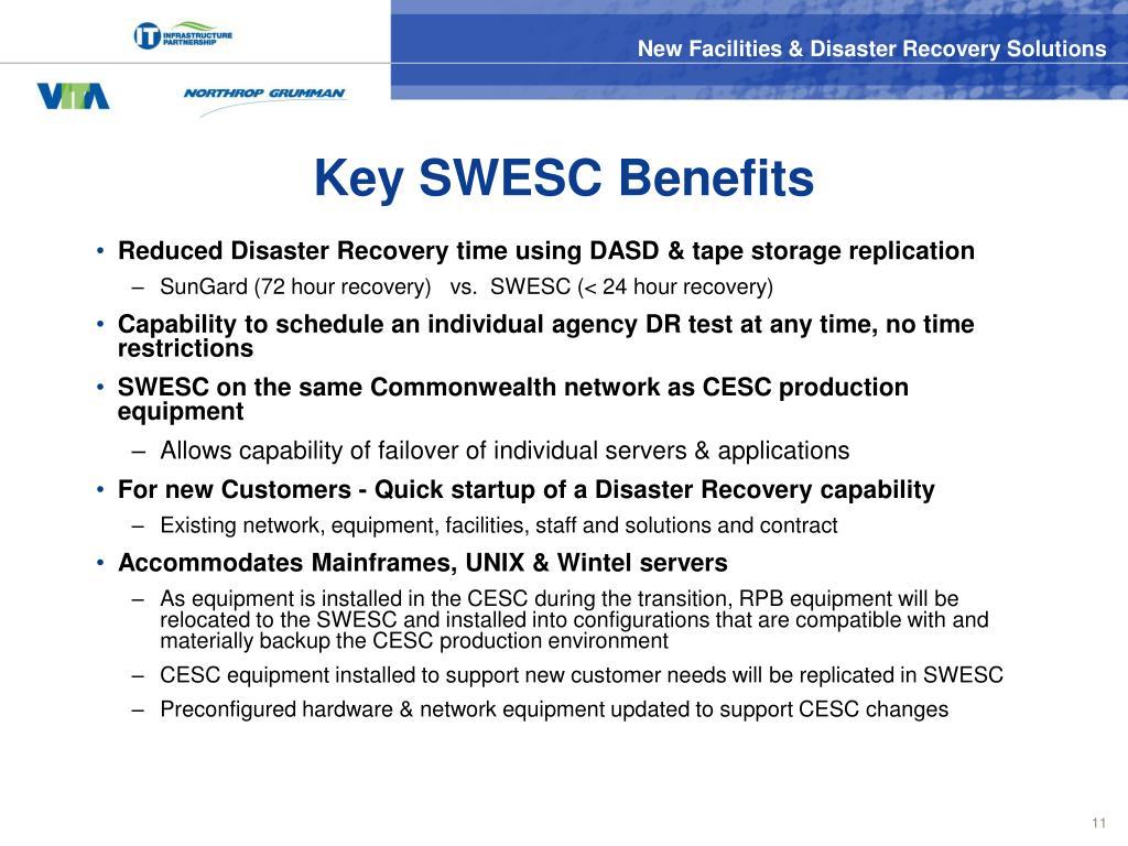 Key SWESC Benefits