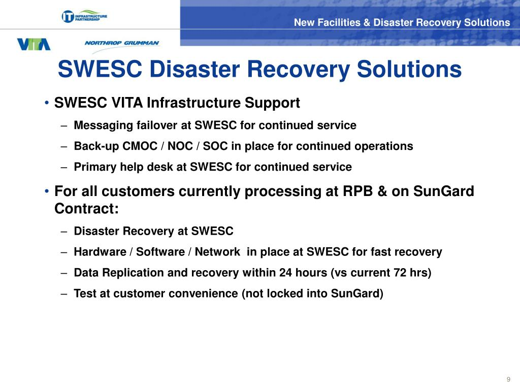 SWESC Disaster Recovery Solutions