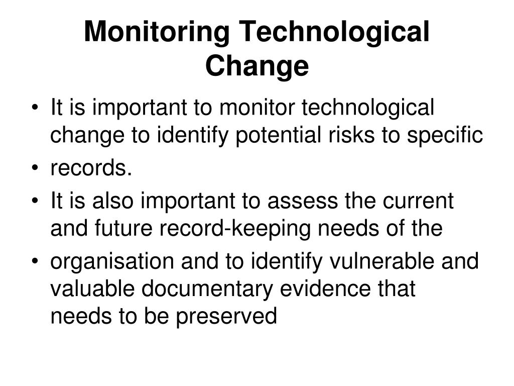 Monitoring Technological Change
