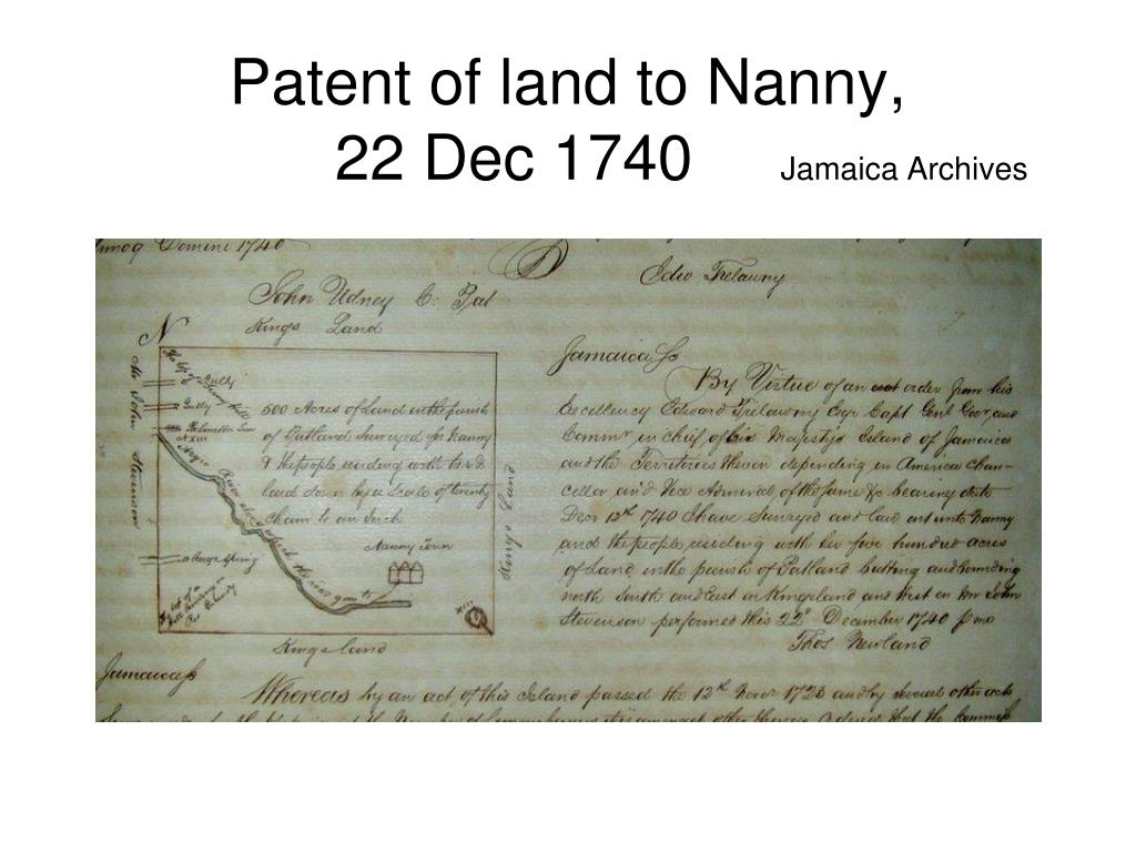Patent of land to Nanny,