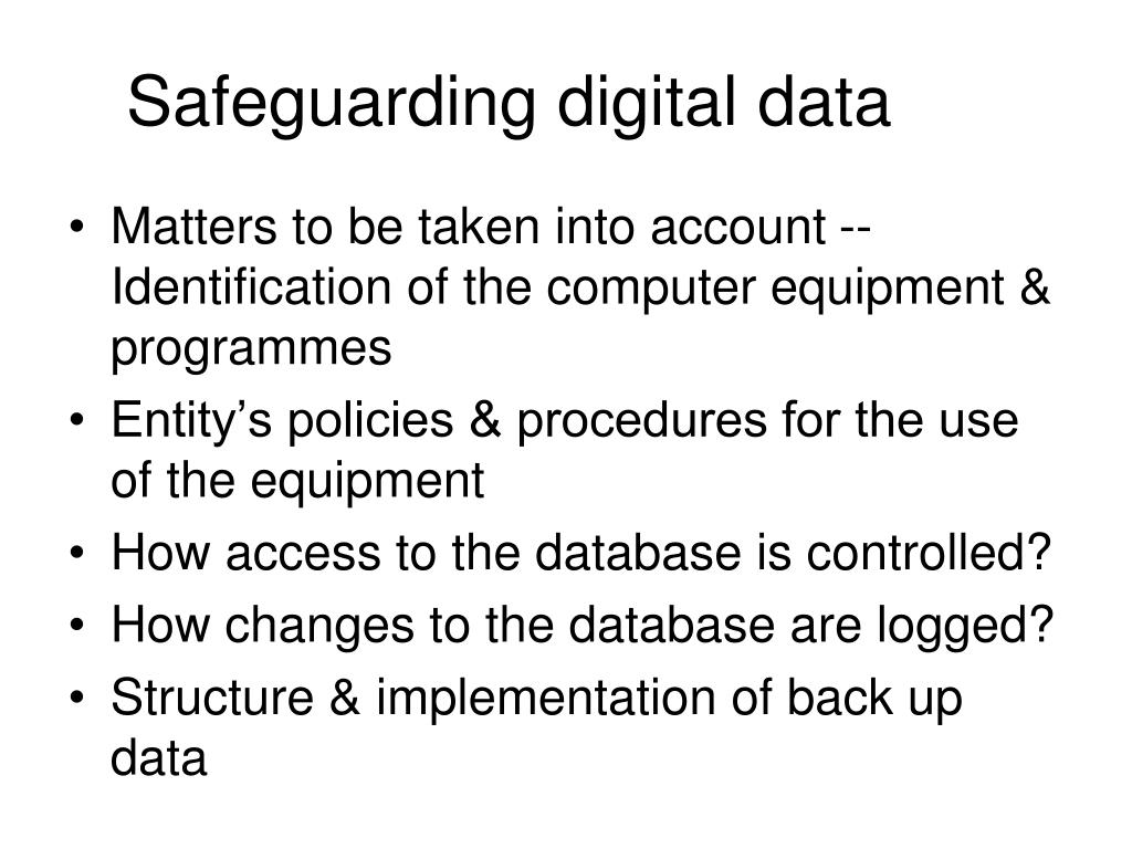 Safeguarding digital data