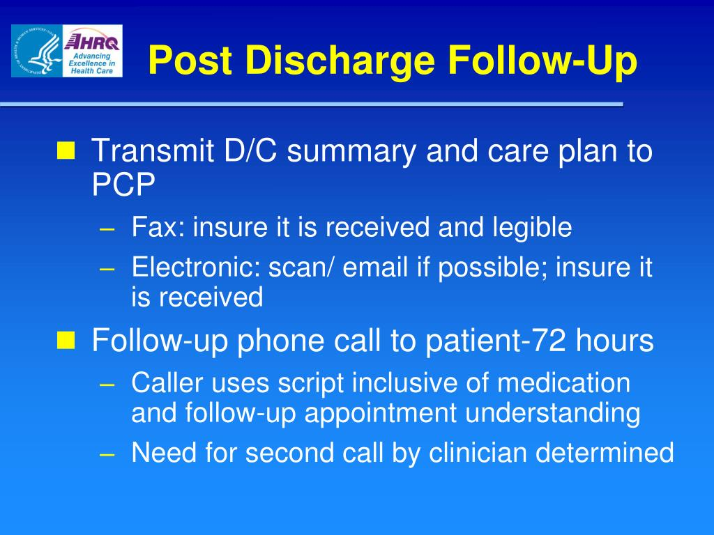 Post Discharge Follow-Up