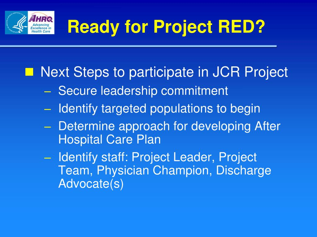 Ready for Project RED?