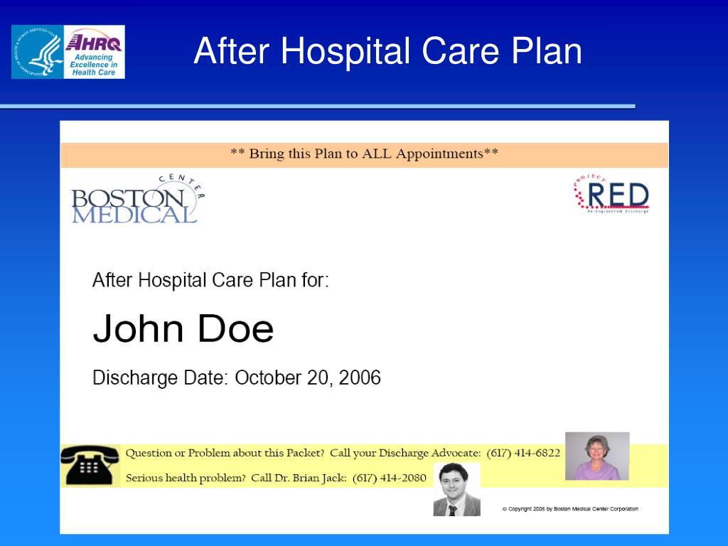 After Hospital Care Plan