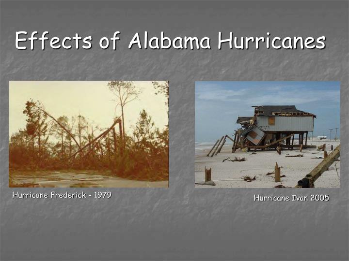 Effects of Alabama Hurricanes