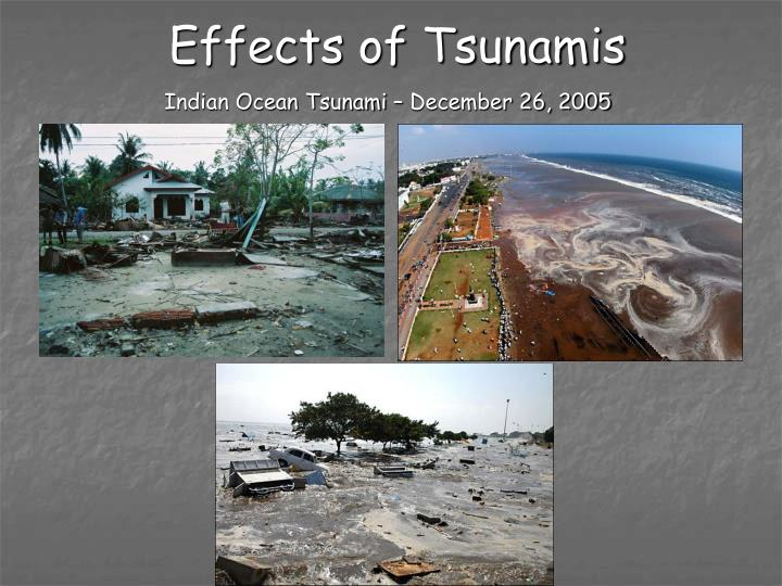Effects of Tsunamis