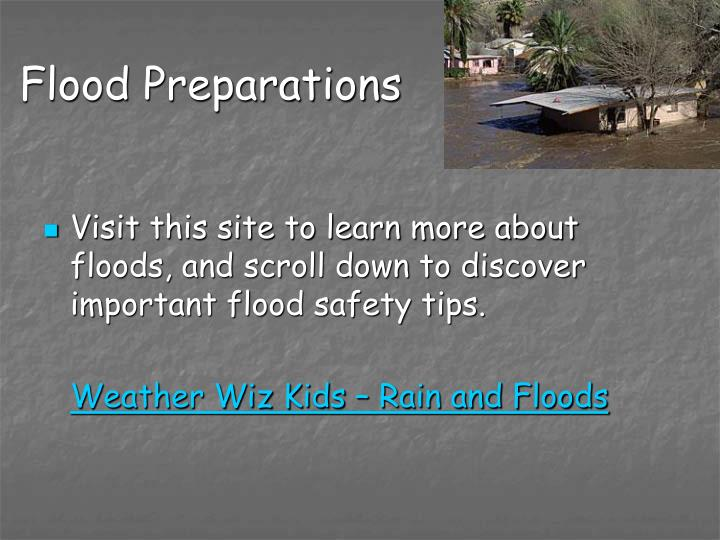 Flood Preparations