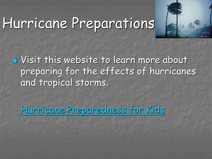 Hurricane Preparations