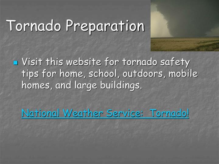 Tornado Preparation