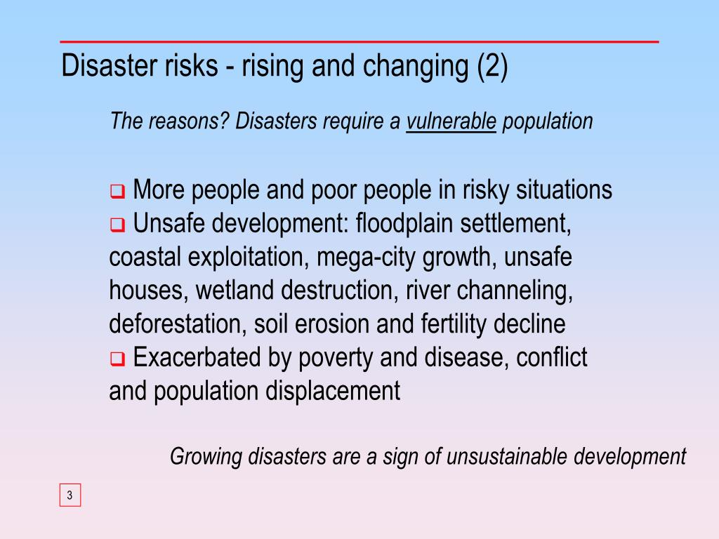 Disaster risks - rising and changing (2)