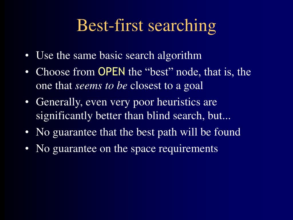 Best-first searching