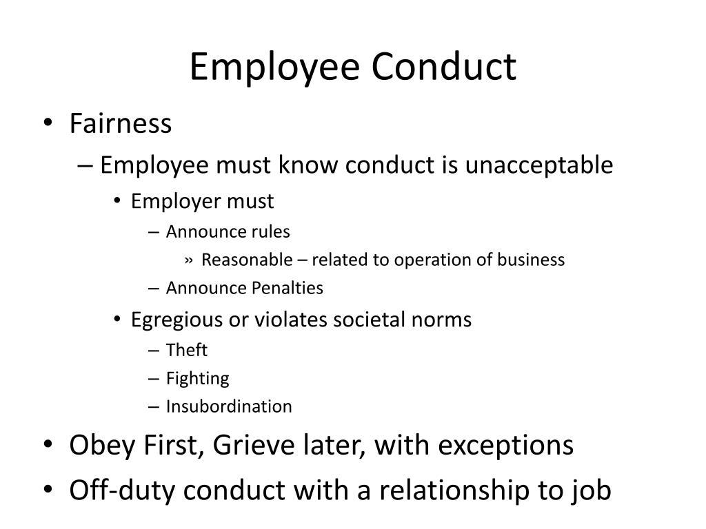 Employee Conduct