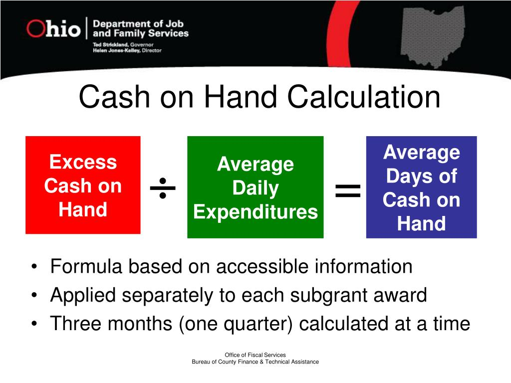 Cash on Hand Calculation